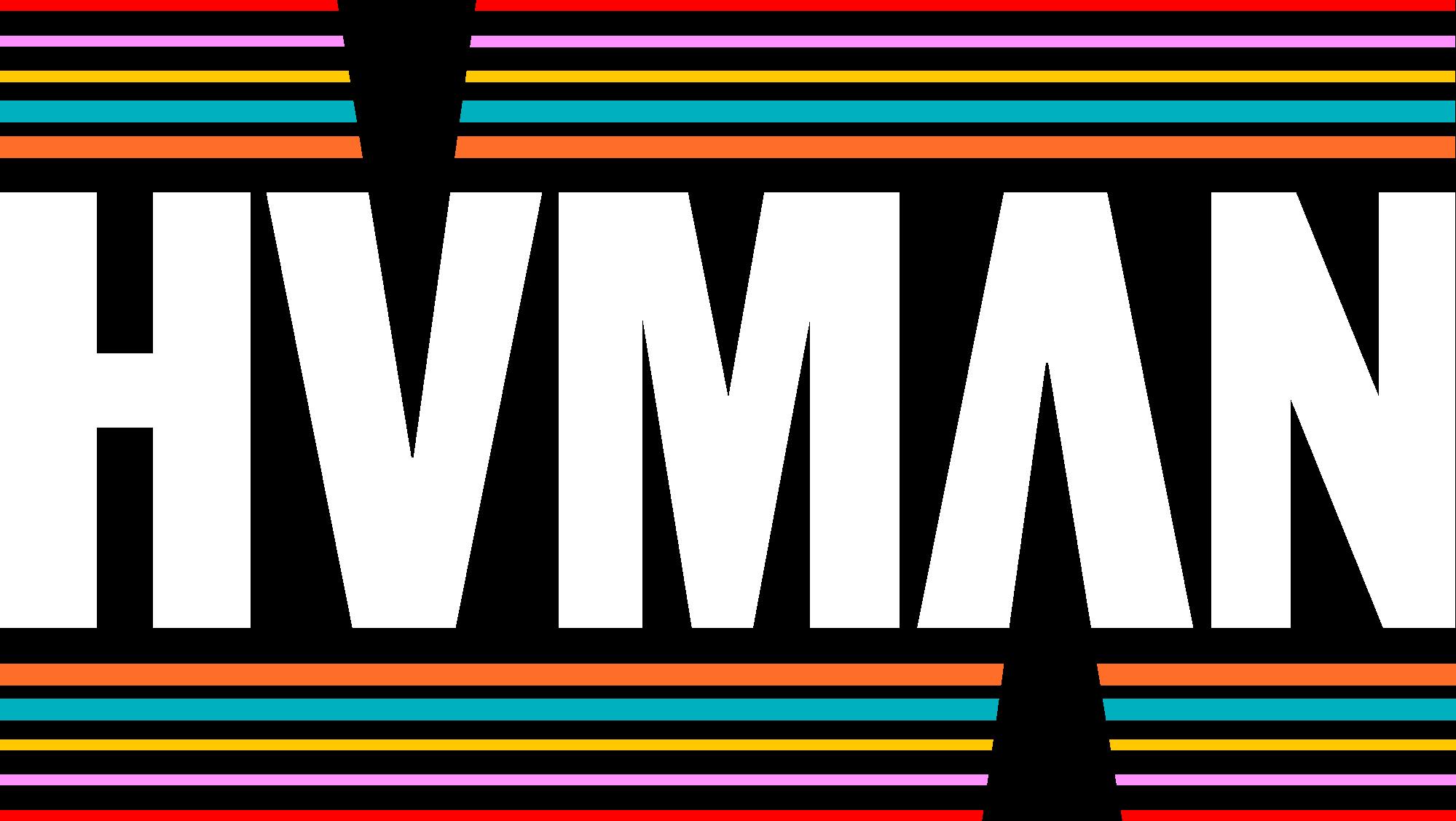 Human logo RGB HUMAN WIT