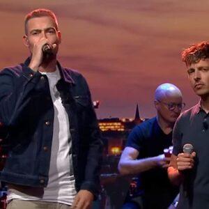 Lange Frans en Baas B doen live nieuwe versie van 'Het Land Van'