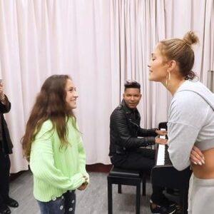 Dochter (11) Jennifer Lopez laat zangkunsten horen en het is prachtig