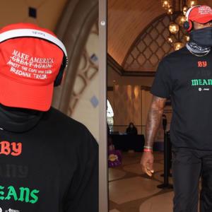 LeBron James en medespelers dragen neppe Trump-petjes voor Breonna Taylor