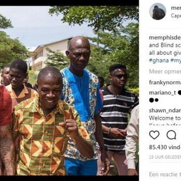 Memphis Depay en Winne in Ghana om lokale bevolking te helpen