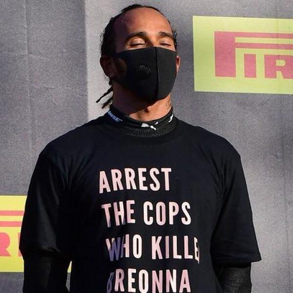 Protest Hamilton op GP van Toscane zorgt voor veel ophef in racewereld