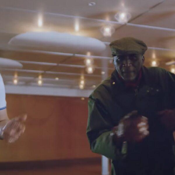 Bejaarde versies van Kevin, Chivv en Lil Kleine in Beetje Moe video