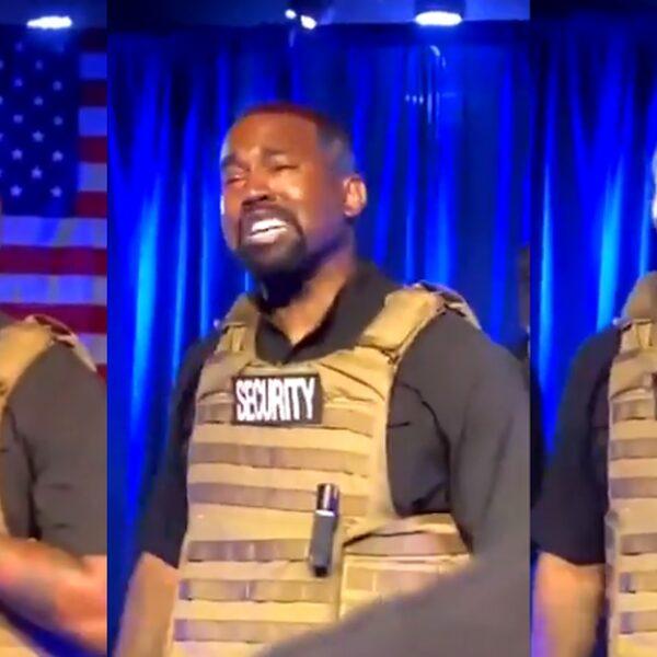 Kanye barst in tranen uit tijdens verwarrende eerste campagnebijeenkomst