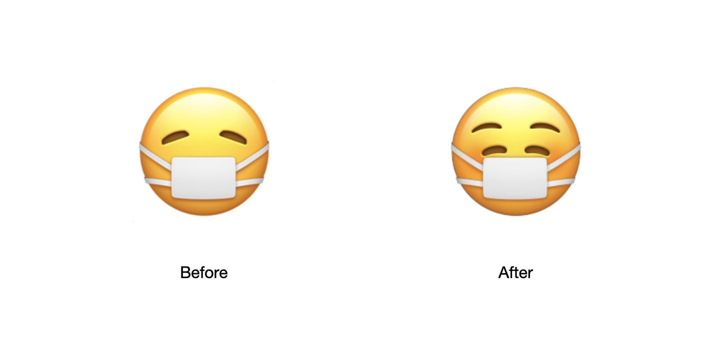 Face with medical mask ios 14 2 beta emojipedia 1