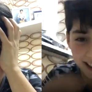 Jong talentje Savio (10) wordt verrast door de hele rapgame