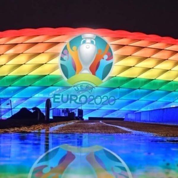 UEFA verbiedt regenboogstadion als statement in duel Duitsland - Hongarije