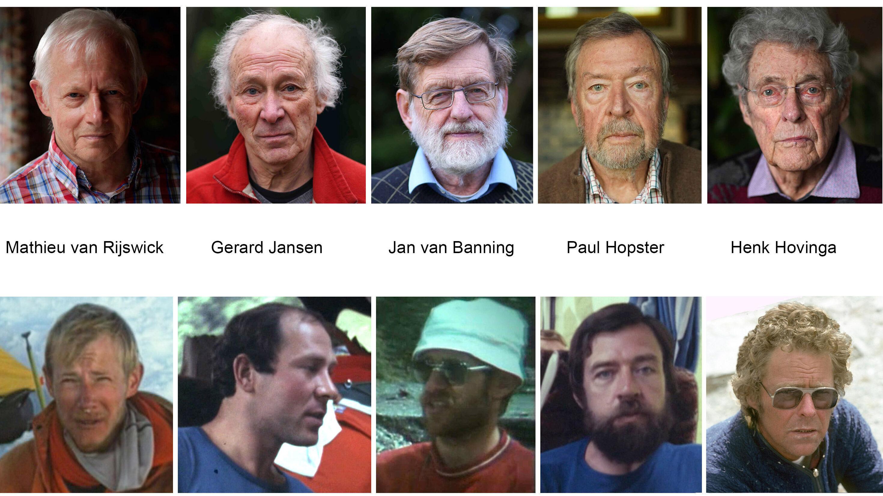 Collage klimmers toen en nu graag vermelding fotos 2020 David de Jongh fotos 1977 Henk Hovinga