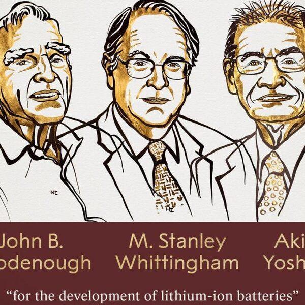 Nobelprijs Scheikunde voor oplaadbare batterijen