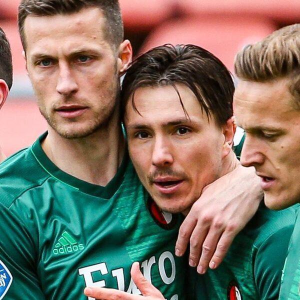 Nipte zege Feyenoord in Utrecht, opnieuw blessure Bijlow