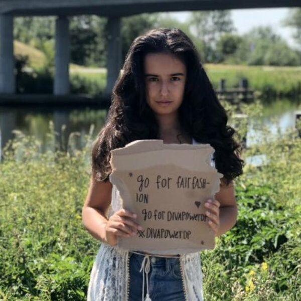 Modeontwerpster Aaliyah Saleh is 13 jaar en heeft haar eigen duurzame kledingmerk