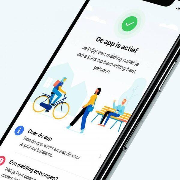 Gebruikers corona-app testen minder vaak positief