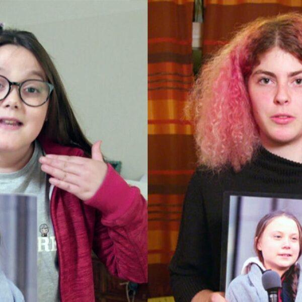 Lilly (11) en Dana (17) zijn geïnspireerd door Greta Thunberg en staken voor het klimaat