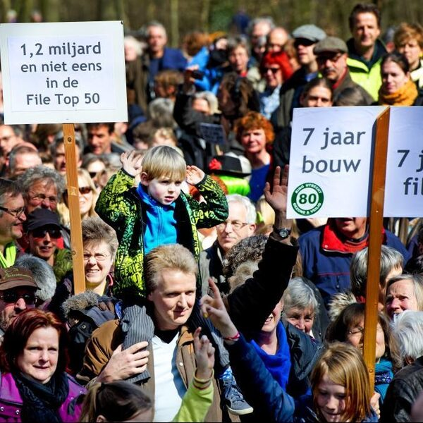 Verbreding A27 bij Utrecht 'waanzinnig duur, risicovol en met grote natuurschade tot gevolg'