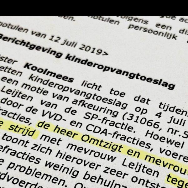 Bespreking van de openbaar gemaakte notulen met politiek verslaggever Lars Geerts