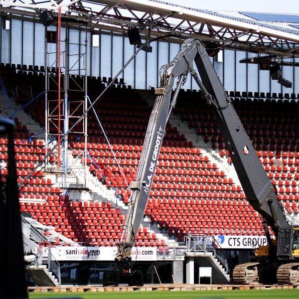 Dak stadion AZ was voor instorting al verzwakt