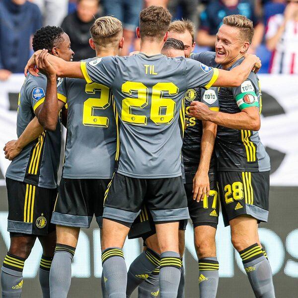 Feyenoord toont goede vorm ook in de Eredivisie bij Willem II
