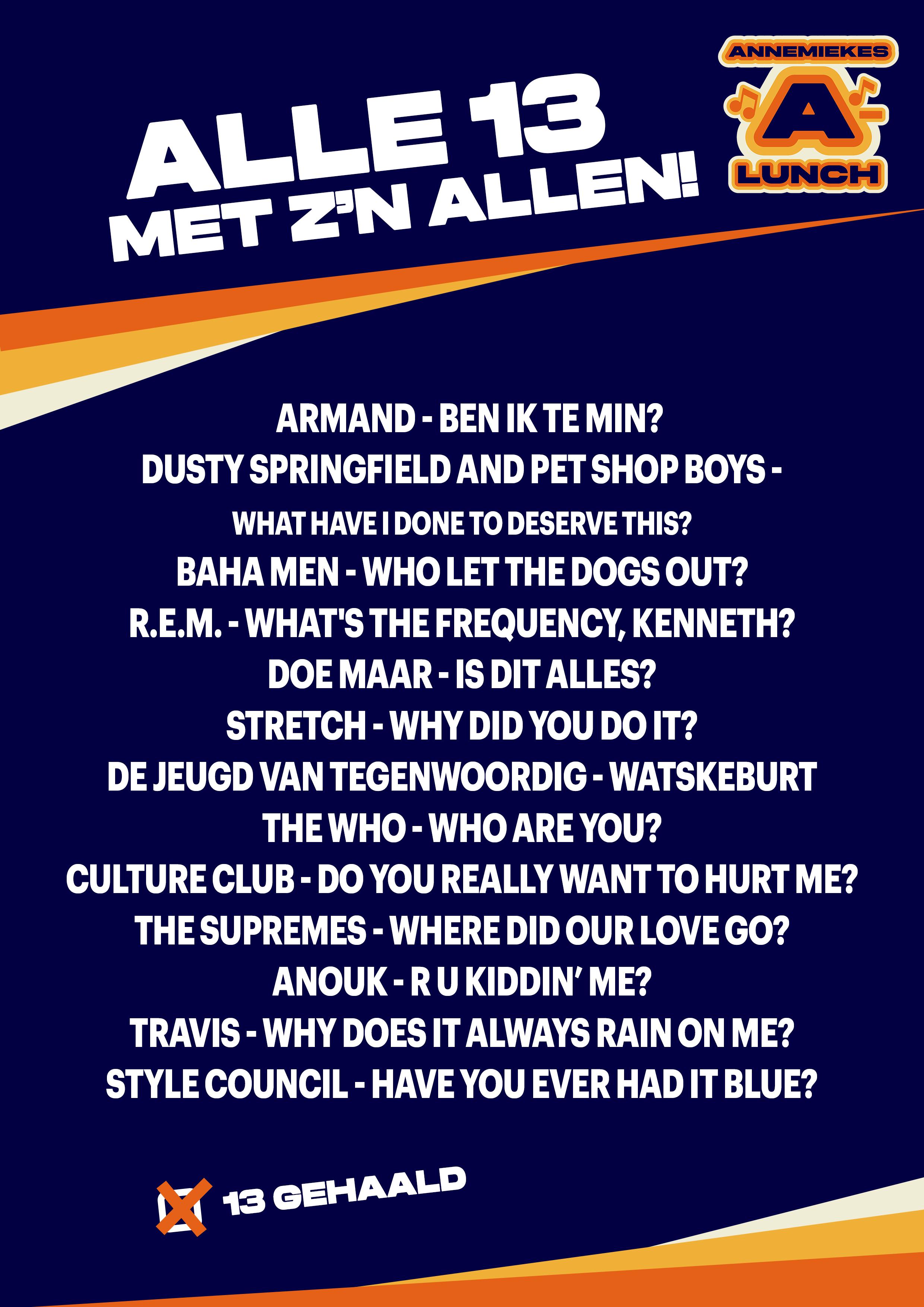 AAL Alle13 Vragen lijst