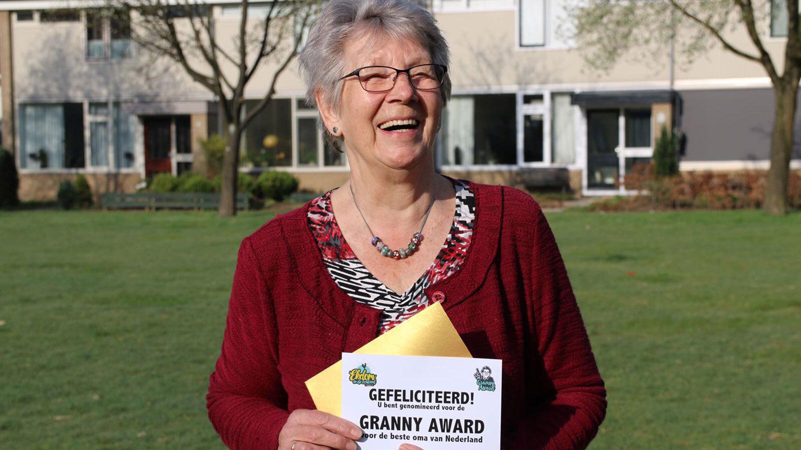 Oma Willemien genomineerd voor de Granny Award 2018