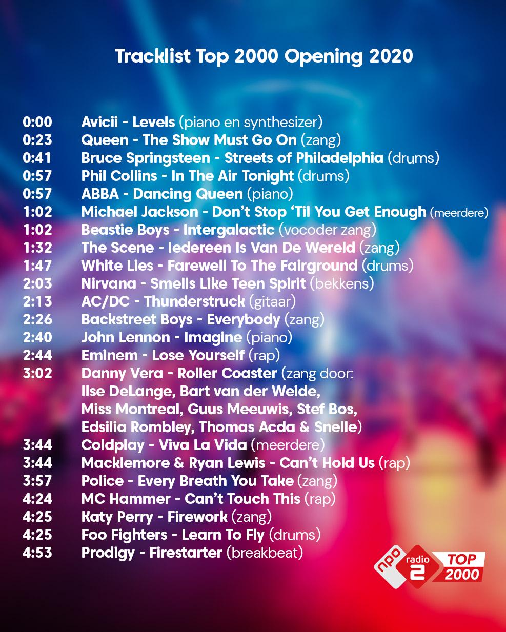 Tracklist openingdef2