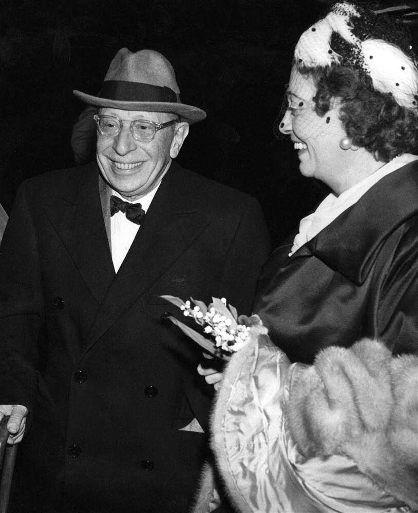 Igor stravinsky en zijn vrouw vera 1961 ANP 367847865