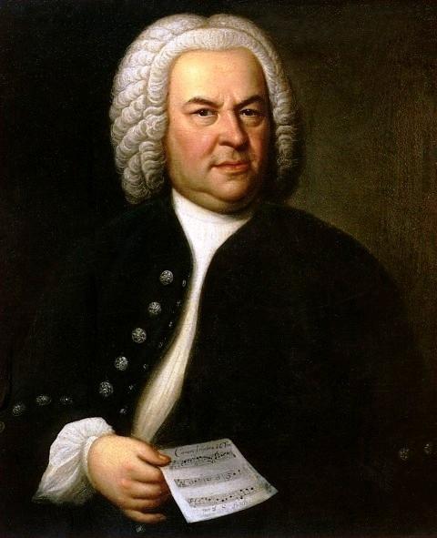 Portret van Johann Sebastian Bach door Elias Gottlieb Haussmann.