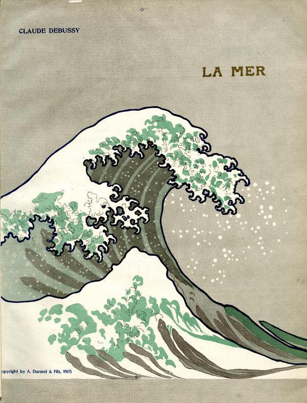 Voorkant la mer debussy hokusai